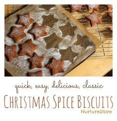 A super quick, easy and delicious Spice Christmas biscuit/cookie recipe | NurtureStore :: inspiration for kids