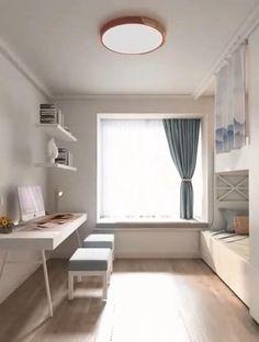 Small Room Design Bedroom, Study Room Design, Small Apartment Design, Study Room Decor, Kids Bedroom Designs, Small Room Decor, Home Room Design, Apartment Interior Design, Bedroom Decor