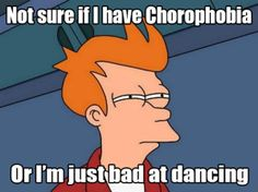 Chorophobia fear of dancing