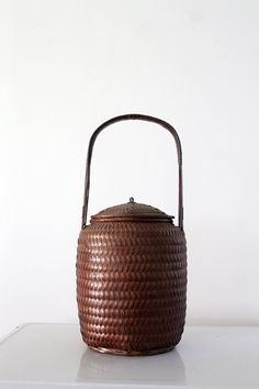 Antique Chinese Basket ♠️♠️More At FOSTERGINGER @ Pinterest. ♠️♠️