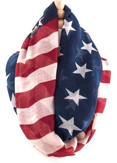 American Flag 'Infinity' Scarf- BACK IN STOCK!