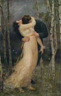 "Painting Style Ideas ""Making Love� in Georgian and Victorian Novels. Romantic Paintings, Beautiful Paintings, Renaissance Kunst, Romance Art, Art Of Love, Illustration, Victorian Art, Classical Art, Art Graphique"
