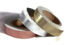 Metallic Foil Washi Tape - Copper Silver Gold