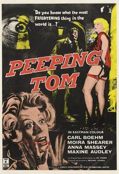 Peeping Tom o El Fotografo del Panico 1960, un clasico del terror que nos cuenta la historia de un psicopata que busca mediante las fotos captar el momento justo de la muerte de sus victimas...un clasico de palomitas.