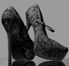 gothic high heels I don't know if I've pinned these before but I love them