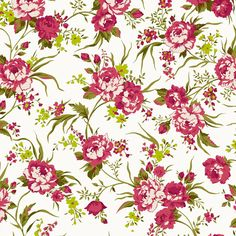 Hannah (Chartreuse) - Floral Fabric - The Textile District design to custom print for home decor, upholstery, and apparel. Pick the ground fabric you need and custom print the designs you want to create the perfect fabric for your next project. https://thetextiledistrict.com #designwithcolor #fabrics #interiordesign #sewing
