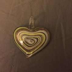 Blown glass heart pendant Goes with any change or whatever you like! Jewelry Necklaces