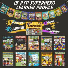 IB PYP Superhero Learner Profile from mstwining from mstwining on TeachersNotebook.com (26 pages) - A CUTE, FUN SUPERHERO way to display and explain the IB PYP Learner Profile!