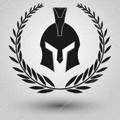 Spartan helmet silhouette on https://depositphotos.com/108255240/stock-illustration-spartan-helmet-silhouette.html?ref=1674167