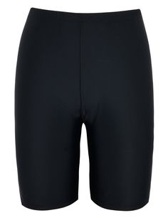 Firpearl Women UV Sport Board Shorts Swimsuit Bottom Capris US20 Black. high wasit,on belly button. with insert soft mesh trangle brief. cover the thighs,come just above knee. UPF 50+ sport swim bottom,not afraid of the skin sunburn while swimming. perfect to pair with stylish rash guard/tankini/bikini swim tops or sports crop/belly tops.
