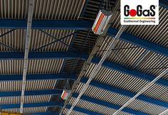 GoGaS Hellstrahler KMI: Mit dem hocheffizienten Gas-infrarotstrahler KMI wird auf günstige Weise die EnEV unterschritten und das EEWärmeG erfüllt.  Weitere Informationen erhalten Sie unter www.radiantheating.de oder unter www.hallenheizsysteme.de.