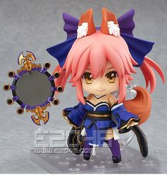 Delivery of a 'foxy' good wife from Kenenryobo! From the popular game 'Fate/EXTRA' comes a rerelease of the Nendoroid of the 'good wife' with a foxy appearance - Caster! She comes with three face plates including a smiling face, a combat expre. Manga Anime, Anime Art, Anime Faces Expressions, Tamamo No Mae, Tokyo Otaku Mode, Amaterasu, Anime Figurines, Mode Shop, Cute Poses