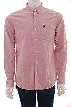 Lyle and Scott Mens Shirt red b_XXL Oxford Regular Fit - Various Size Options