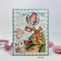 Stamps by Time for Tea Designs Balloon Rides, Hot Air Balloon, Tea Design, Balloons, Stamps, My Style, Cards, Handmade, Accessories