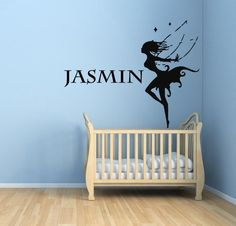 Wall Decals Personalized Girl Name Fairy Vinyl Sticker Murals Wall Decor KG272