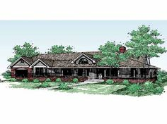 Five Bedroom Farmhouse (HWBDO56941) | Farmhouse House Plan from BuilderHousePlans.com