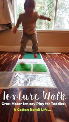 Exercise with Bubble Wrap Jump training Toddler School A Cotton Kandi Life...: Sensory Play & Gross Motor Fun {Texture Walk}