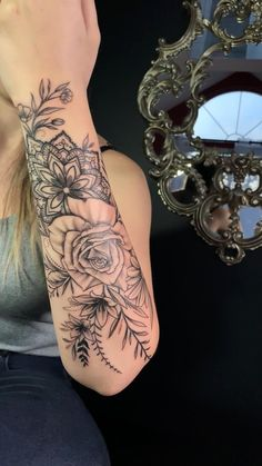 Cover Up Tattoos For Women, Dope Tattoos For Women, Tattoos For Women Half Sleeve, Chest Tattoos For Women, Shoulder Tattoos For Women, Women Tribal Tattoos, Arm Band Tattoo For Women, Cool Tattoos For Girls, Lace Sleeve Tattoos