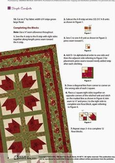 Blog do Patchwork: Bed of Roses