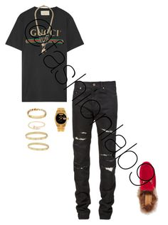 """""""Untitled #2723"""" by fashionlab9 on Polyvore featuring Gucci, Yves Saint Laurent, Topman, Rolex, Cartier, men's fashion and menswear"""