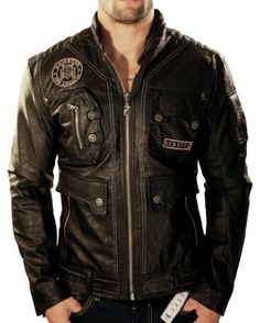 REMETEE by Affliction Faux Leather Motorcycle Mens Jacket Top  69.99