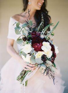 Bride Bouquet with plum color - Google Search