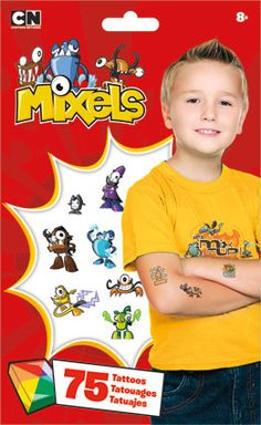 Lego Mixels Temporary Tattoos 75 Tattoos Party for by iluvdesign