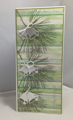 Claire Broadwater: Claire Creates Cards –  Merry & Bright--Merry Monday #135 - 11/19/134  (SU: Stamps: Ornmental Pine, Teeny Tiny Wishes.  Spellbinders: Christmas Icons (bells)  (Pin#1: Chrismtas: Pines...  Pin+: Bells/...)