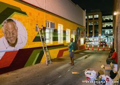 On the street...with Aniekan Udofia - Ben's Chili Bowl Mural - U Street - DC