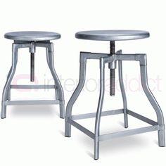 //.interioraddict.com/foot-bar-stools-  sc 1 st  Pinterest & Turner Swivel Industrial Stool - Raw Gunmetal 62cm | Willow wood ... islam-shia.org
