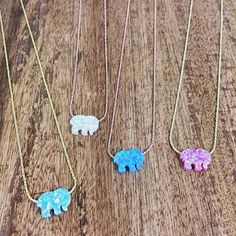 which color is your favorite? now available on ivoryella.com ✨ Opal Ella Necklaces