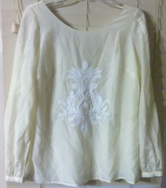 Banana Republic Size Medium Womens Beige Silk Cotton Top Blouse! BEAUTIFUL~~!