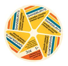 Canadian cheese spread: Own Label: Sainsbury's Design Studio,1962-1977