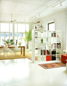 Creating Zones in Open Plan Rooms - entry
