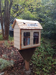 Jenny Heins. Seattle, WA. This little library was supposed to be a prototype, but I had such fun embellishing that it ended up being my library. We started by stocking it with books from Sustainable Ballard's lending library. Next up: excess from my private collection. Sustainable Ballard will be publishing a map of Ballard libraries and we are offering subsidies to help people register their libraries. Check out sustainableballard.org/little-free-libraries/ for details.