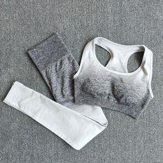 Gym Set Clothes Seamless Yoga Set Sports Bra and Leggings Tops For Leggings, Gym Leggings, Sports Leggings, Workout Leggings, Leggings Sale, Push Up Workout, Workout Tank Tops, Workout Attire, Workout Wear
