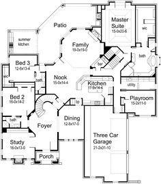 Plan 59195ND: Roomy and Efficient Design