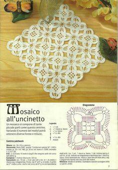 mosaico uncinetto crochet ganchillo