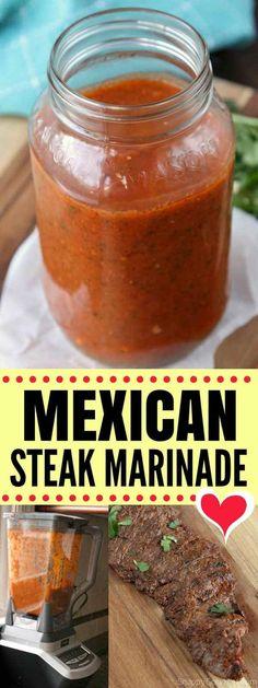 Marinade Porc, Mexican Steak Marinade, Beef Fajita Marinade, Rinder Steak, Steak Fajita Recipe, Steak Marinade Recipes, Beef Fajitas, Marinade For Skirt Steak, Chicken Fajitas