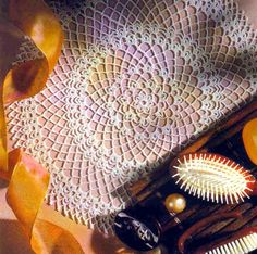 tejidos artesanales en crochet: adorno de tocador 2