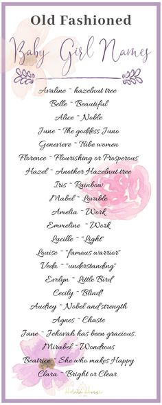 20 Uncommon Vintage Baby Girl Names that Arent Just For Grandma - Boy Girl Names - Dont you love a classic baby girl name that stands the test of time? We have chosen 22 precious baby girl names that will become a family legacy! Baby Girl Names Classic, Vintage Baby Girl Names, Baby Girl Names Unique, Names Girl, Unusual Baby Names, Cute Baby Names, Weird Girl Names, Baby Gurl Names, Twin Baby Girl Names