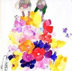 """""""Flower Hand-cart,"""" Chihiro Iwasaki, 1967. Courtesy of The Chihiro Iwasaki Museum. ©Chihiro Iwasaki. All rights reserved."""
