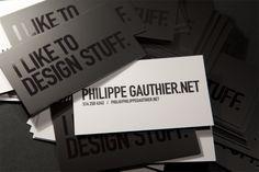 Philippe Gauthier / Graphic Designer - Business Cards