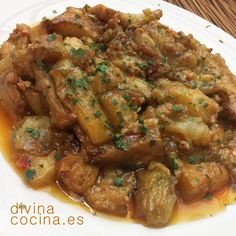 You searched for Berenjenas - Divina Cocina Healthy Diet Recipes, Vegetable Recipes, Mexican Food Recipes, Beef Recipes, Vegetarian Recipes, Cooking Recipes, Healthy Food, Veggie Main Dishes, Mediterranean Diet Recipes