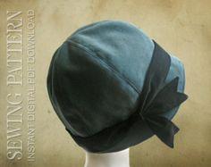 SCHNITTMUSTER  Grace 1920er Jahre Cloche Hut von ElsewhenMillinery