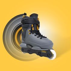 One of our most popular skates gets a refresh in a new Grey colour-way with yellow details. The Razor Genesys Junior is arguably the best looking, most solid Junior aggressive skate on the market. Aggressive Skates, Kids Skates, New Skate, Gray Color, Colour, How To Look Better, Popular, Yellow, Grey