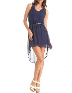 Lace-Back Hi-Low Tank Dress: Charlotte Russe