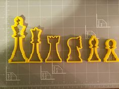 If you have a custom shape or logos in mind please contact us for your unique custom orders. This listing is for Chess Set Cookie Cutter. Great size to make cookies for any fun occasions. The depth ar