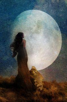 ☽☽ ℓa ℓuna ☾☾ Man in the Moon by Aimee Stewart Sun Moon Stars, Sacred Feminine, Divine Feminine, Feminine Energy, Moon Magic, Beautiful Moon, Moon Goddess, Luna Goddess, Mother Goddess