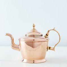 Vintage Copper William Soutter Teapot, Mid Century on Copper Pots, Copper Kitchen, Kitchen Dining, Copper Tea Kettle, Kitchenware, Tableware, Pot Sets, Brass Handles, Chocolate Pots